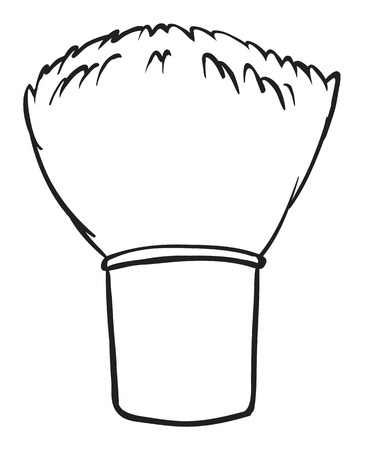 hair brush: Illustration of a brush on a white background