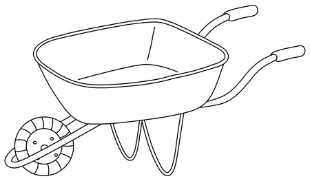 Illustrazione di un carrello di utilità su uno sfondo bianco Vettoriali