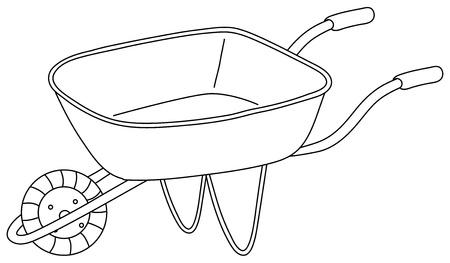 carretilla: Ilustración de un carro utilitario en un fondo blanco