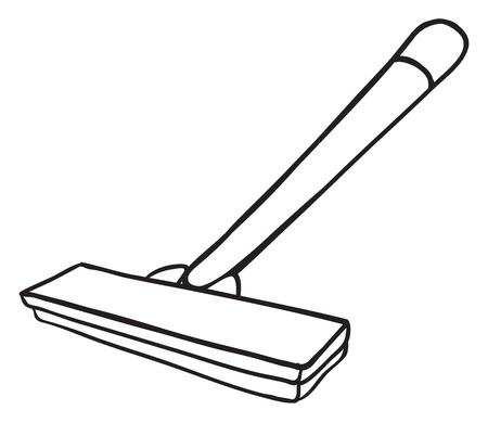 rasoir: Contour noir et blanc d'un rasoir