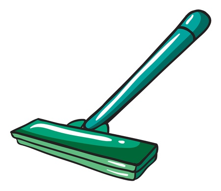 Illustration of a green mop on a white background Stock Vector - 17826575