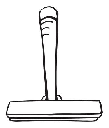 shaver: Black and white outline of a shaver Illustration