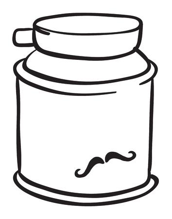 aseo personal: Ilustración de una crema de afeitar en un fondo blanco