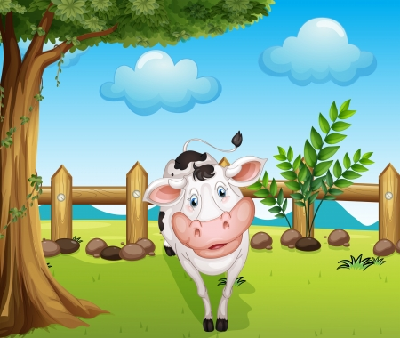 pict: Illustration of a cow inside the fence