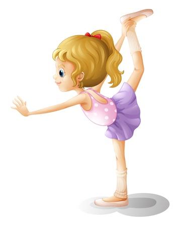 gymnastik: Illustration av en gymnast på en vit bakgrund