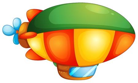 blimp: Illustration of a blimp on a white background Illustration