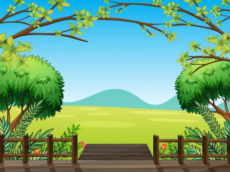 Illustration of a natural view of nature Stock Vector - 17892389