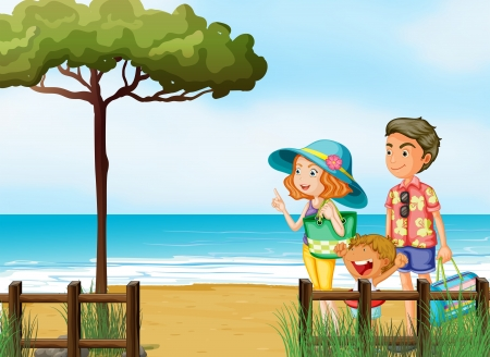 pict: Illustration of a family at the beach