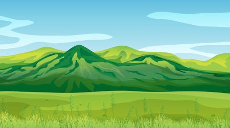 Illustration of the high mountains Stock Vector - 17889613
