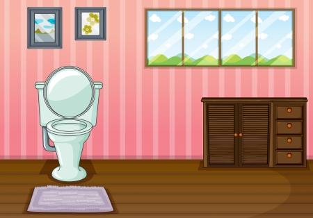 Illustratie van een comfort kamer