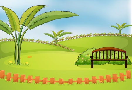 Illustration of an empty park Stock Vector - 17895877