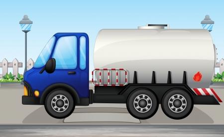 autobotte: Illustrazione di una petroliera