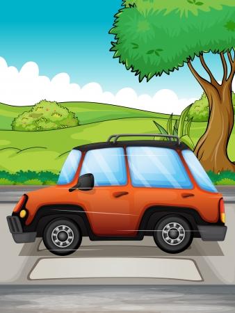 Illustration of a running car Stock Vector - 17895758