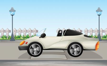 car leaf: Illustration of a beautiful sports car