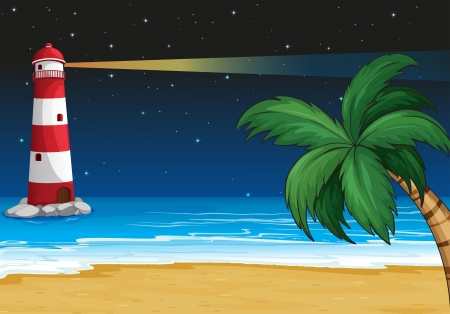 Illustration of a parola in the beach Vector