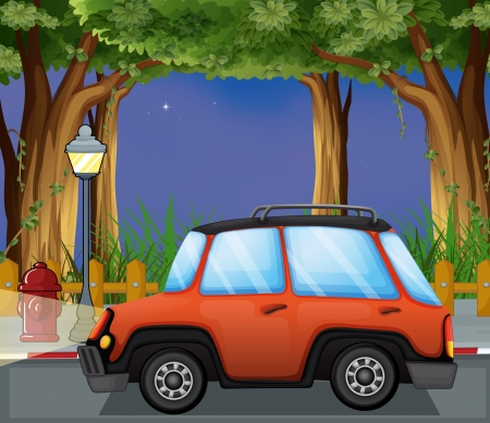 Illustration of a car in the street Stock Vector - 17896322