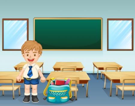 board room: Ilustraci�n de un estudiante que llevaba un uniforme completo