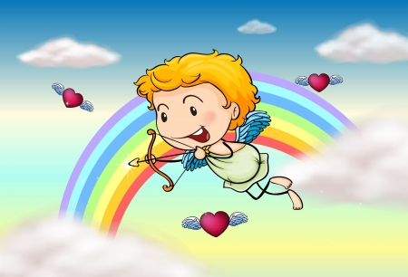 Illustration of a cupid angel Vector