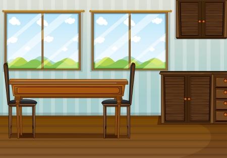 Illustration d'une salle à manger propre