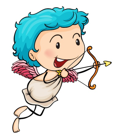 Ilustration of Mr. cupid on a white background Vector