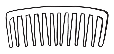hair brush: Illustration of a comb on a white background
