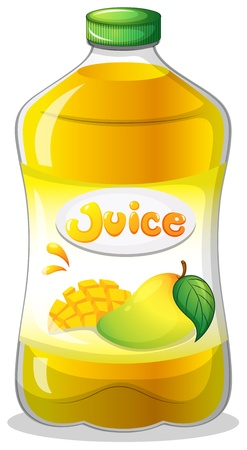 Illustration of a bottle of juice on a white background Vector