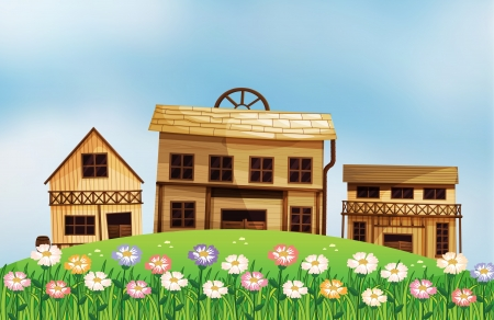 Illustration of the different form of houses Stock Vector - 17821603
