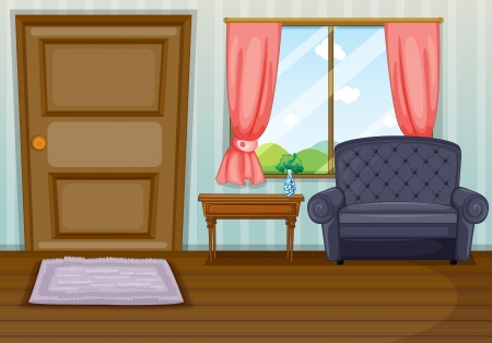 drawing room: Illustration of a clean living room