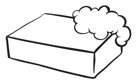 cleaning bathroom: Illustration of a bar of soap on a white background Illustration