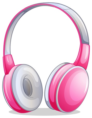 elliptic: Illustration of a pink headset on a white background