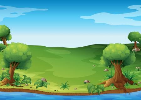 selva caricatura: Ilustraci�n de la vista de las colinas Vectores
