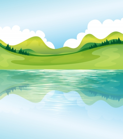 Illustration of the water and land resources Stock Vector - 17918367