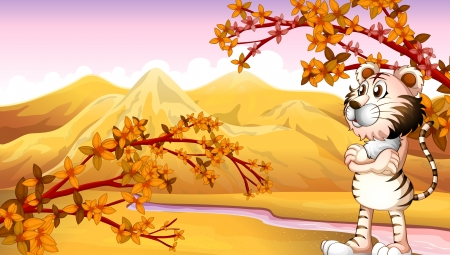 Illustration of the mountain view during autumn Stock Vector - 17918482