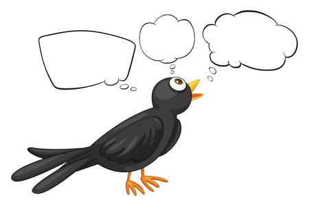 nostril: Ilustration of a bird with empty callouts on a white background Illustration