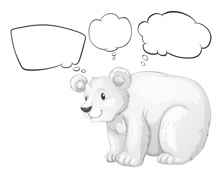Illustration of a big bear thinking on a white background Stock Vector - 17918418