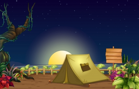 Illustration of a campsite Stock Vector - 17927836