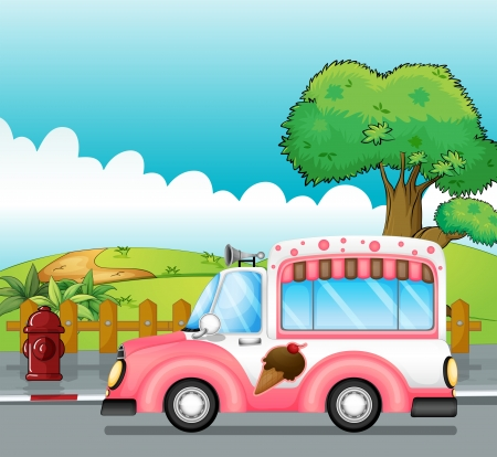 Illustration of an icecream truck  Vector