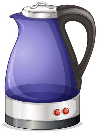 electric tea kettle: Illustration of an electric kettle on a white background