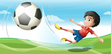 goal kick: Illustration of a soccer player Illustration