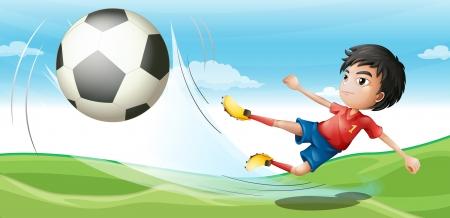 goal kick: Illustration of a soccer player Illustration