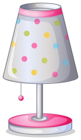 pink lamp: Illustration of lampshade on a white background Illustration