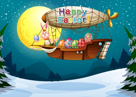 Illustration of a happy easter greeting Stock Vector - 18012976