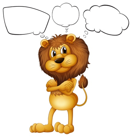 Illustration of a lion with the blank callouts on a white background