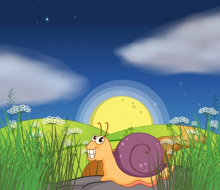 Illustration of a snail at the road Stock Vector - 18012921