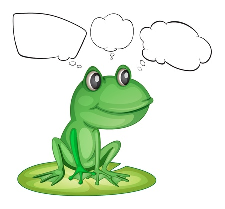 Illustration of an amphibian and the empty callouts on a white background Vector