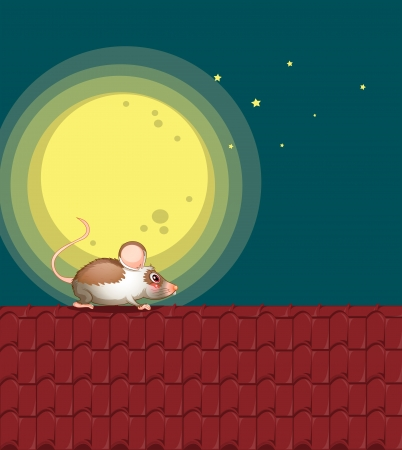rooftop: Illustration of a rat at the rooftop
