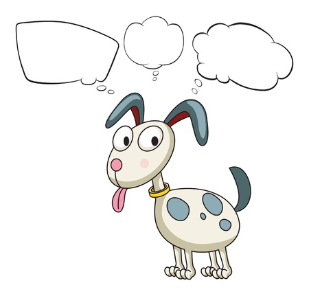 Illustration of a puppy with empty callouts on a white background Stock Vector - 18052799