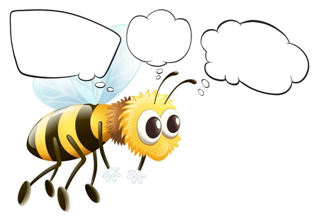 Illustration of the empty thoughts of a flying bee on a white background Stock Vector - 18052830