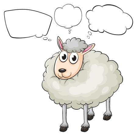 Illustration of a lamb with empty callouts on a white background Stock Vector - 18052813
