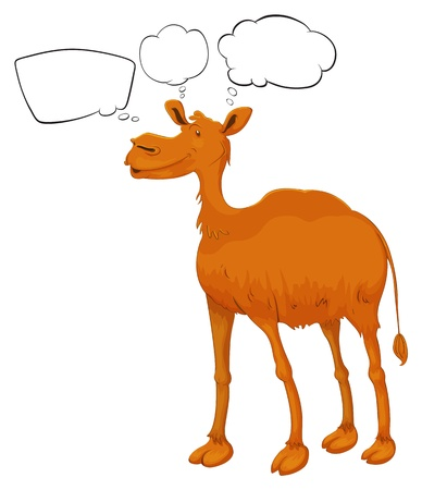 Illustration of a camel with empty callouts on a white background Stock Vector - 18052823